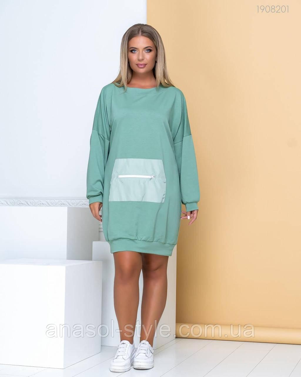 Платье Спорт - шик №15 (оливковый) 1908201