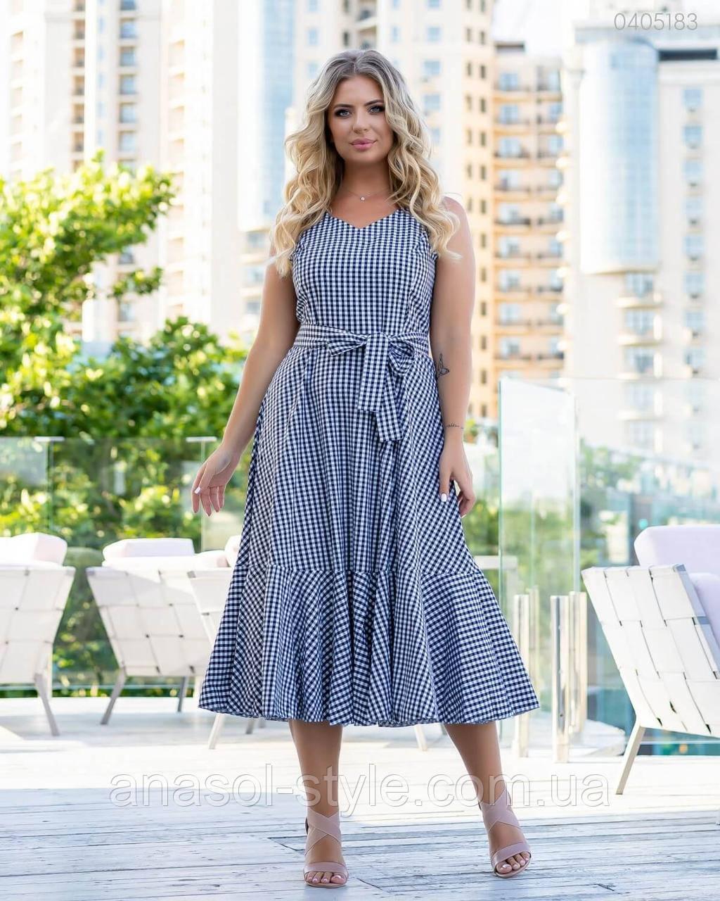Платье Каликут летнее фасон годе больших размеров черный