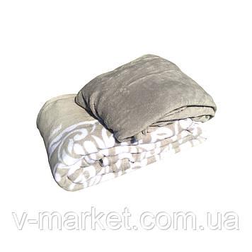 Набір простирадло на гумці (135/200 см) з пледом (200/260 см), тканина мікрофібра