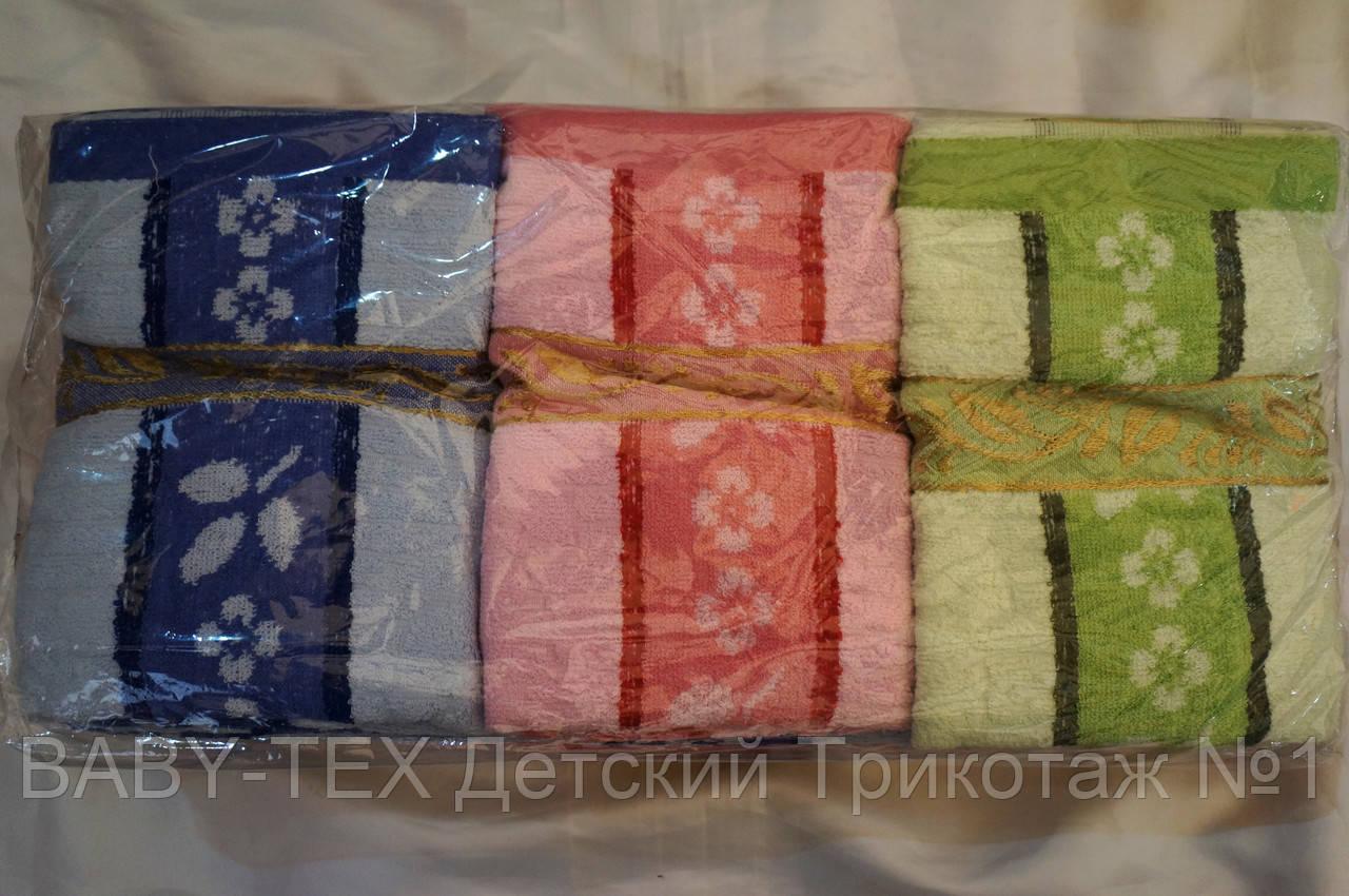 Полотенце Полоска-цветок для лица