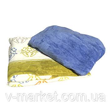 Набір простирадло на гумці (150/200 см) з пледом (240/260 см), тканина мікрофібра