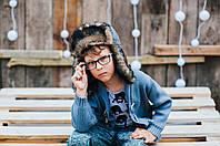 Детская шапка зимняя для мальчиков ДОРИАН оптом размер 52-54-56