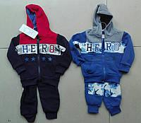 Трикотажний костюм - двійка утеплений для хлопчиків Cross Fire оптом, 1-5 років. Артикул: 412