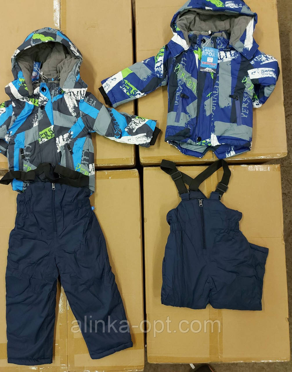 Куртка+напівкомбінезон утеплені для хлопчиків Taurus оптом, 98-128 рр.Артикул: DL652