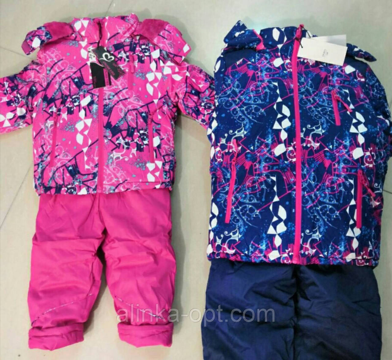 Куртка+напівкомбінезон утеплені для дівчаток Cross Fire оптом, 104-128 рр. Артикул: X8