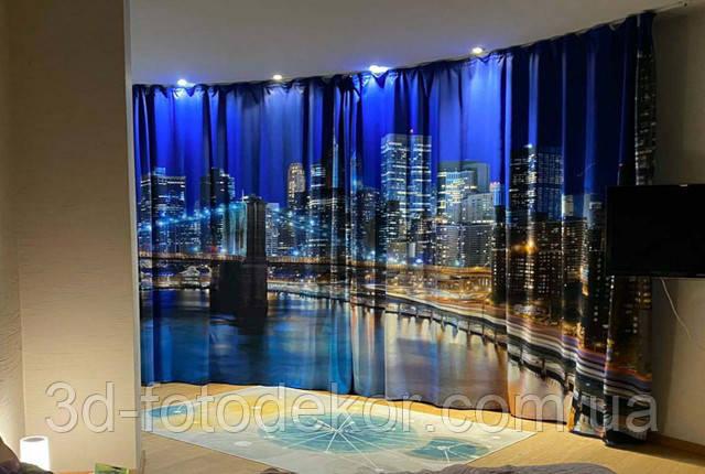 фото шторы с городами в интерьере