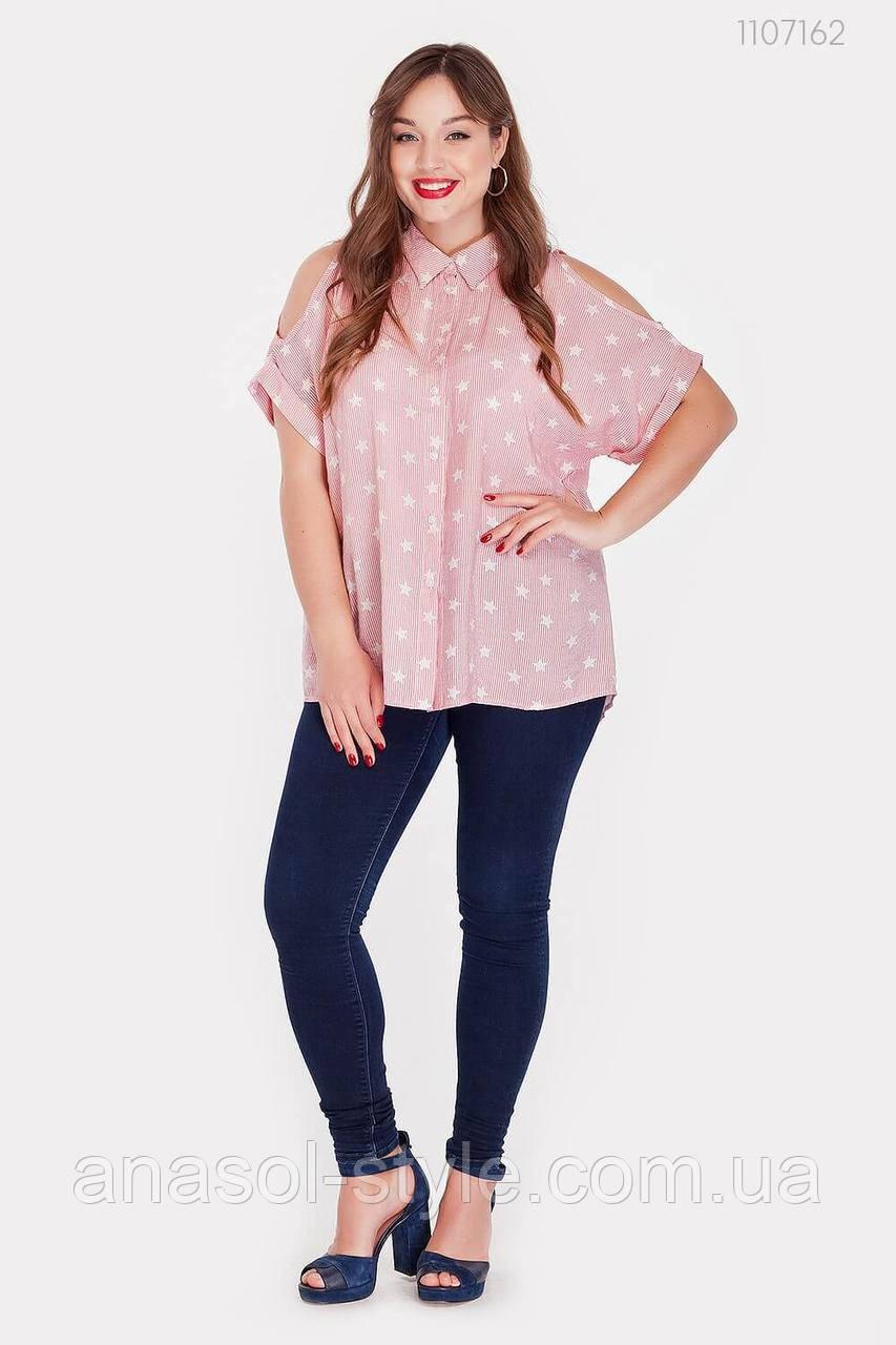 Женская рубашка Сардиния (красный) 1107162