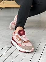 Жіночі різнокольорові кросівки Adidas Falcon Стильні кроси для жінок Адідас Фалкон