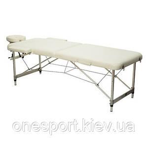 HY-2010-1.3   Массажный стол 2-х секционный (алюмин. рама) белый + сертификат на 300 грн в подарок (код