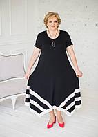 Ошатне довге плаття чорного кольору з вставками білого кольору