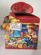 Картонная упаковка новогодняя Святой Николай мелким оптом, на вес до 700г, фото 2