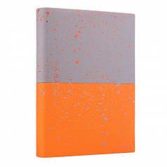 Ежедневник А5 недат. YES Giovanni, мягк., 432 стр., серый/оранжевый 252060