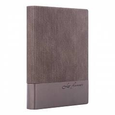 Ежедневник А6 недат Leo Planner Velvet, мягкий, 352стр., серый 252035