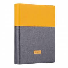Ежедневник А6 недат. YES Giovanni, мягк., 432 стр., горчичный/серый 252061