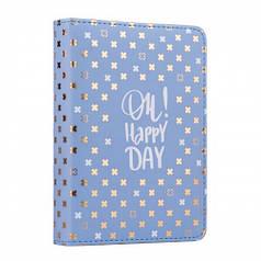 Ежедневник А6 недат. YES Good vibes, тверд., 432 стр., стальной синий 252050