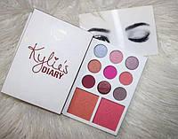 Палетка теней и румян Kylie Diary Pressed Powder Palette