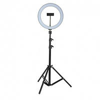 Кольцевая светодиодная LED лампа RING на штативе для блогера / селфи / фотографа / визажиста D 26 см