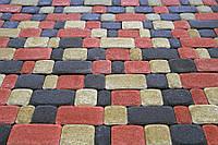 Тротуарная плитка Старый город 25мм Серая и цветная