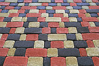Тротуарная плитка Старый город 25мм Серый