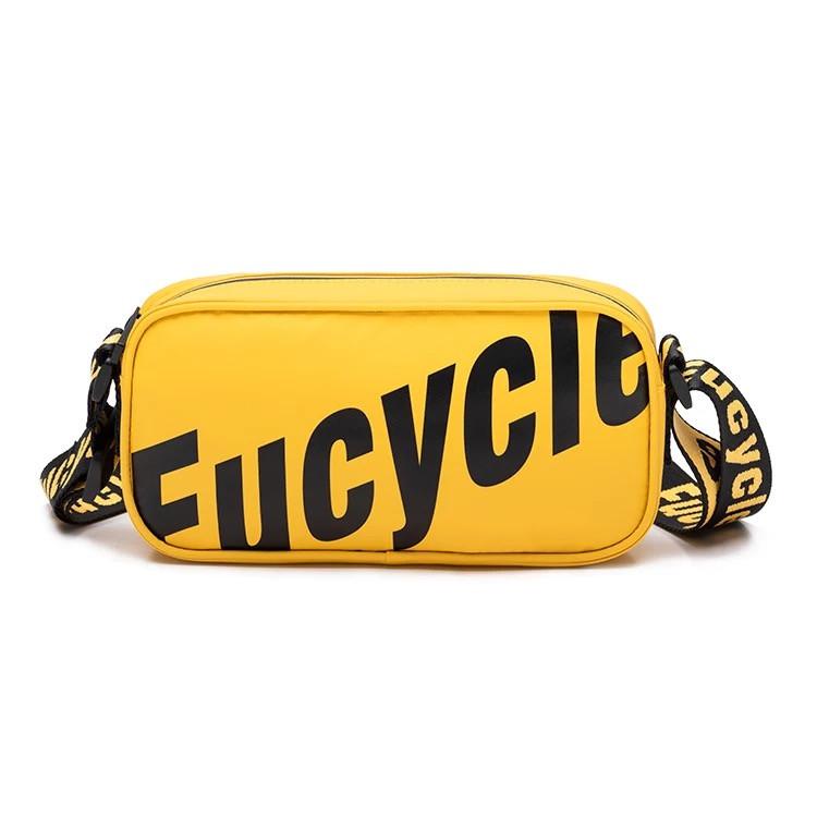 Яркая женская сумка желтая городская, повседневная с длинным ремешком через плечо