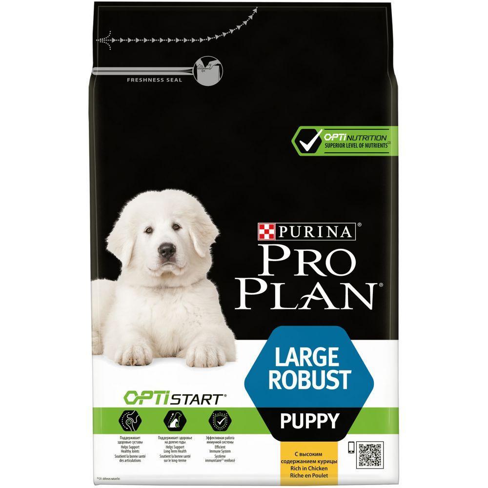 Pro Plan Large Robust Puppy 3кг - cухой корм для щенков крупных пород, беременных и кормящих, с кури