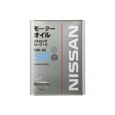 Оригінальне моторне масло NISSAN STRONG SAVE X SN 5W-30, 4л.