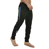 Штаны спортивные футбольные мужские тренировочные взрослые для футболиста T90 Черно-синий (LD-9206) L