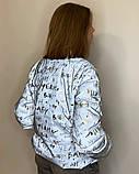 Куртка женская светоотражающая из рефлективной ткани с принтом Буква серебряного цвета, фото 4