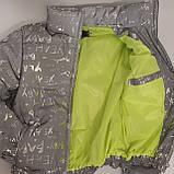 Куртка женская светоотражающая из рефлективной ткани с принтом Буква серебряного цвета, фото 9