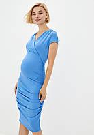 Платье-футляр для беременных и кормящих (васильковый), фото 1