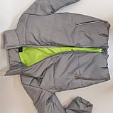 Рефлективна куртка світловідбиваюча ОПТОМ розміри з 38 по 48 модель Вік Рефлектив, фото 10