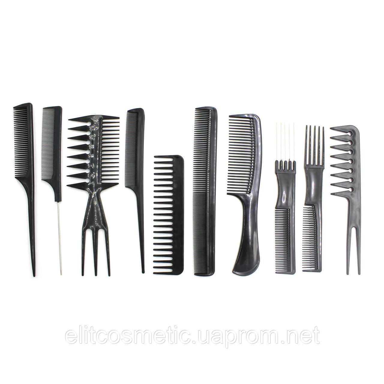 Комплект гребней для волос SPL 10 шт.