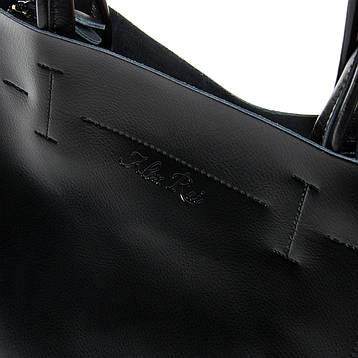 Сумка Жіноча Класична шкіра ALEX RAI 9-01 J003 чорна, фото 2