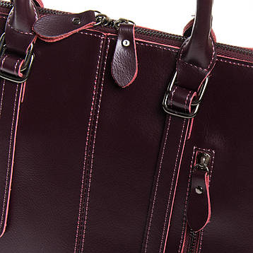 Сумка Жіноча Класична шкіра ALEX RAI 9-01 330 wine-червона, фото 2