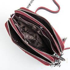 Сумка Женская Клатч кожа ALEX RAI 9-01 8701 wine-красная, фото 3