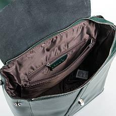 Сумка Жіноча Рюкзак шкіра ALEX RAI 9-01 360 зеленая, фото 3