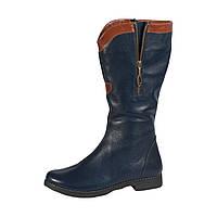 Сапоги М-10 синие кожаные