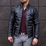 Мужская куртка. Кожаный бомбер. Мужская Кожанка., фото 2