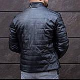 Мужская куртка. Кожаный бомбер. Мужская Кожанка., фото 4