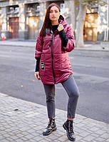Женская зимняя куртка с капюшоном плащевка+200 синтепон размер: 48-50,52-54,56-58,60-62, фото 1