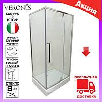 Душевая кабина 100х80 см с поддоном Veronis KN-16-10 дверь распашная правая