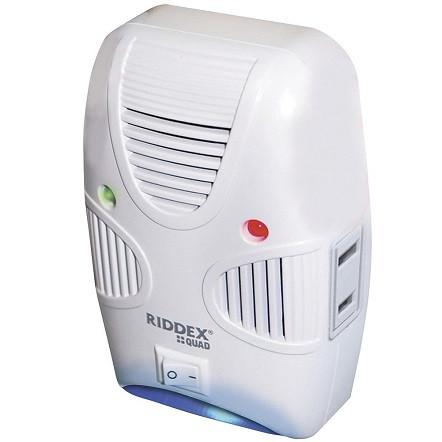 🔝 Ультразвуковой отпугиватель мышей и тараканов Riddex Quad 2 в 1 | ультразвук от грызунов и насекомы | 🎁%🚚