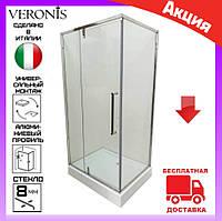 Душевая кабина 100х80 см без поддона  Veronis KN-16-10 дверь распашная левая