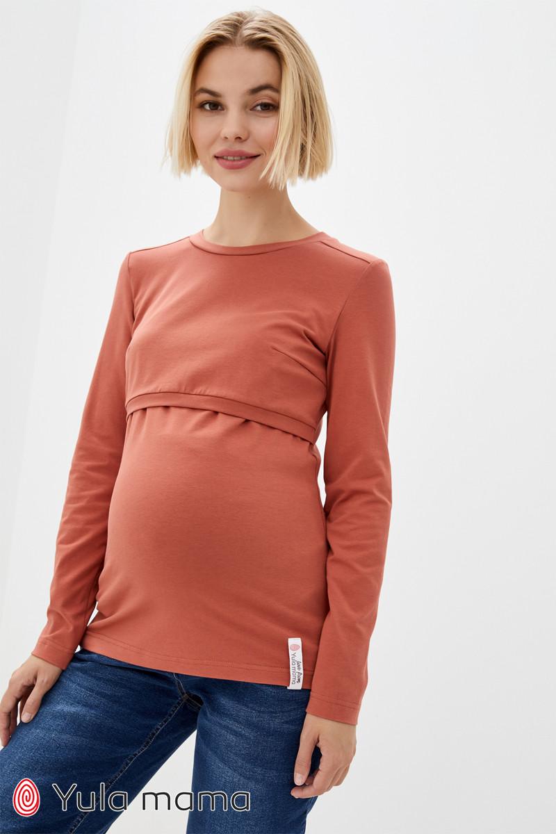 Лонгслив для беременных и кормящих из хлопкового трикотажа MARGERIE NR-30.022