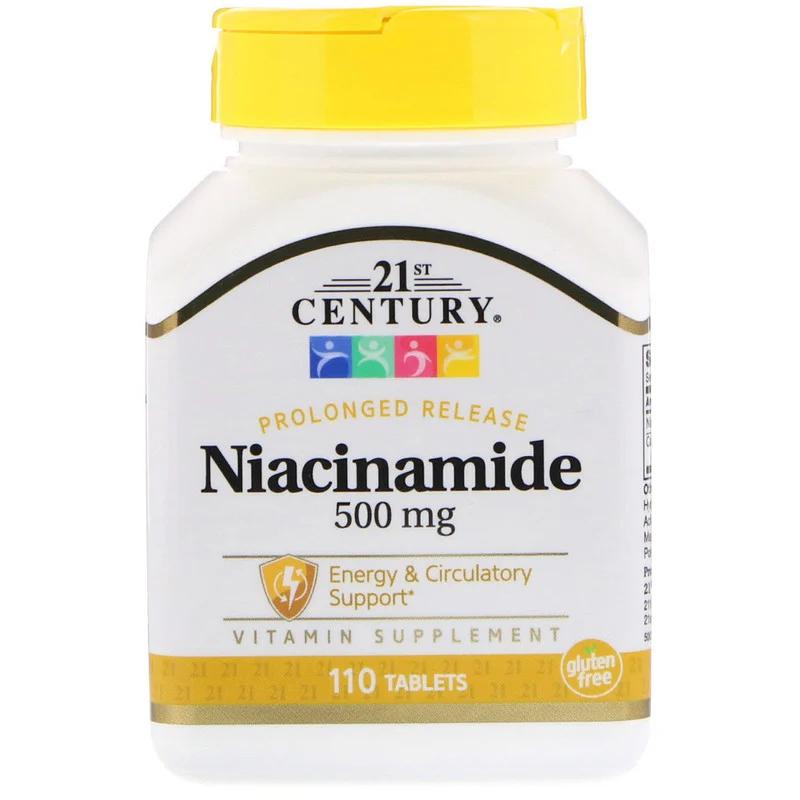 Нікотинамід Niacinamide 500 мг 21st Century 110 таблеток