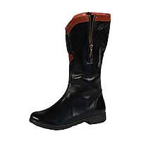 Сапоги М-10 черные кожаные