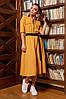 """Модное деловое платье-рубашка со змейкой юбкой """"клеш"""" талия на резинке Серый 44 46 48 50 размеры, фото 7"""