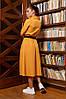 """Модное деловое платье-рубашка со змейкой юбкой """"клеш"""" талия на резинке Серый 44 46 48 50 размеры, фото 8"""
