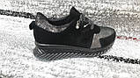 Модні жіночі спортивні туфлі від KDSL, у чорної замші. Розміри 36-41., фото 2