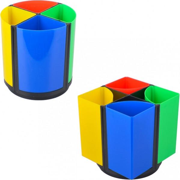 Стакан для ручек вертушка цветной 4 отдел